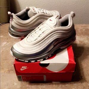 Nike Air Max 97 QS White/Silver Size 11!